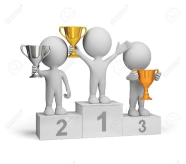 26621499-winners-with-awards-at-the-podium-3d-image-white-background